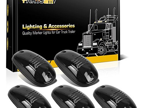 Partsam 5x Roof Running Light Cab Marker Light Clearance Light Covers with Base Housing for 2003 – 2017 Dodge Ram 1500 2500 3500 4500 5500 Pickup Trucks