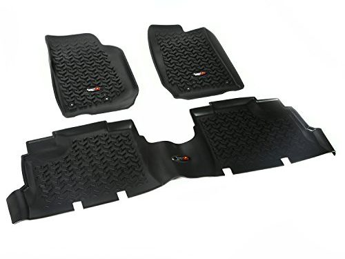 Rugged Ridge All-Terrain 12987.04 Black Front and Rear Floor Liner Kit For Select Jeep Wrangler Unlimited Models