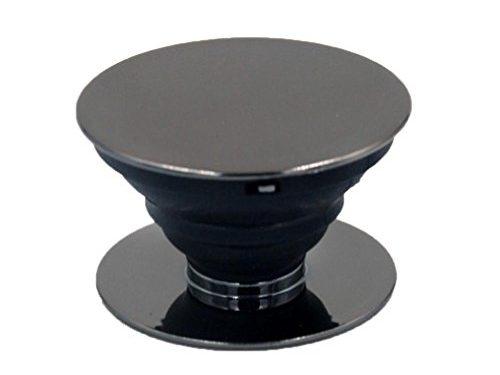 Cellphone Socket Mount,Creazy Premium Electroplating Expanding Stand Pop Phone Grip Mount Holder for Smartphones Black
