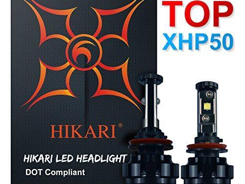 HIKARI LED Headlight Bulbs Conversion Kit -H11H8,H9,CREE XHP50 9600lm 6K Cool White,2 Yr Warranty