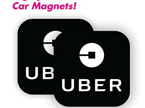 5″x5″ – Wall26 Uber Driver Magnet – Sign for Uber and Rideshare Drivers – Set of 2 – Durable Car Door/Bumper Magnet w/ Highly Reflective Vinyl