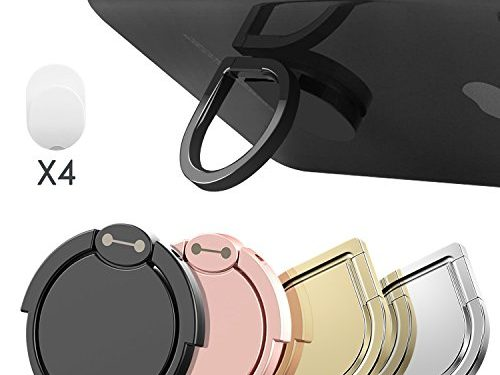 Cell Phone Ring Stand Holder, Water Drop Shape Zinc Alloy Universal 360°Rotation Finger Loop Grip Washable/Removable/Magnetic Car Mount for iPhone, Smartphones and Tablet 4 Pack