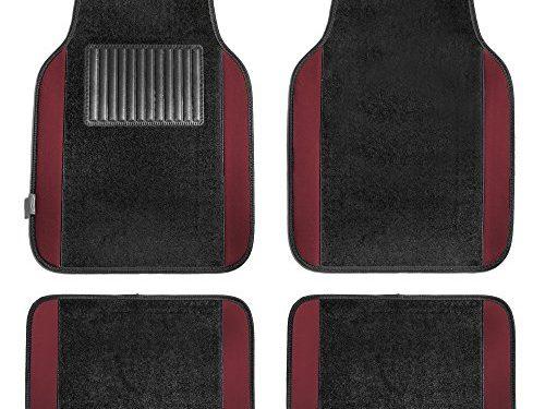 FH Group F14407BURGUNDY Premium Full Set Carpet Floor Mat Sedan and SUV with Driver Heel Pad Burgundy