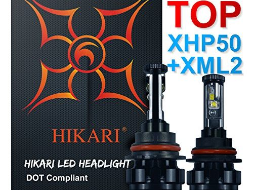 9007 Hi/Lo,Top CREE XHP50+XM-L2 9600lm 6K Cool White Adjustable Beam,2 Yr Warranty – HIKARI LED Headlight Bulbs Conversion Kit