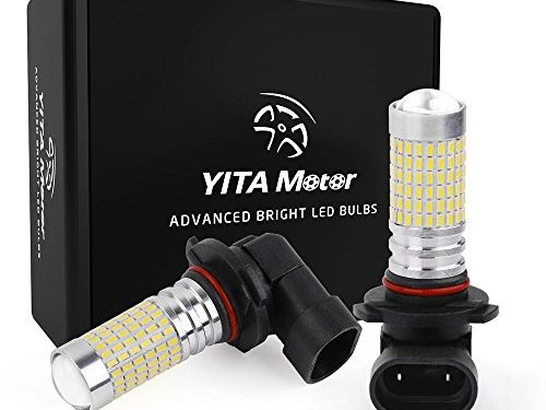 LED Fog Light Bulbs 1400 Lumens super Bright 9005 HB3 LED Bulbs with Projector for DRL or Fog Lights YITAMOTOR brighter output 144 Chipsets
