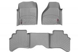 Weathertech 460121-460042 Front and Rear Floorliners Gray Dodge Ram 02-08