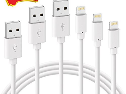 For iPhone Charger, ilikable 3 Pack 6 Foot Lightning Cable For iPhone Charging Cable Cord for iPhone X 8 7 Plus 6s Plus 5S 5C iPad Air 2 Pro iPad Mini 4 3 2 iPod Touch 5th 6th Gen Nano 7th Gen