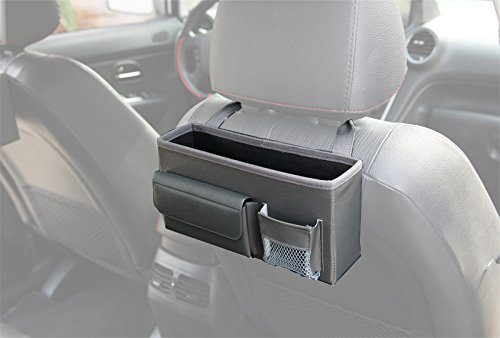 KMMOTORS Wanso Pocket Car Seat Organizer Gray