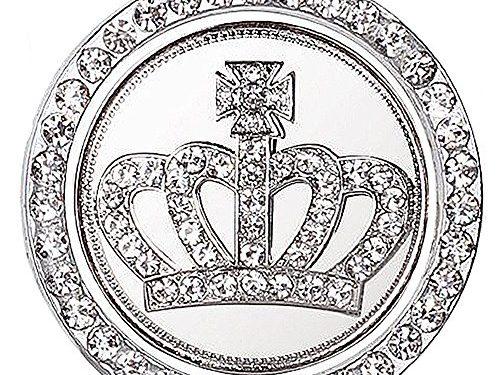 Rhinestone Car Bling Ring Crystal Crown Emblem Sticker Car Engine Start Decoration Ring & Emblem Auto Interior Decal Bling Diamond for Auto Ignition Button Rhinestone Ring + Crown Emblem Sticker