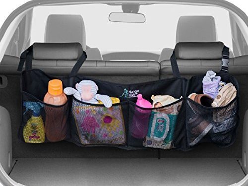 Keep your Car Clean and Organized. Durable Foldable Cargo Storage for More Trunk Space. Secure with Adjustable Straps to Fit All Vehicles. – KangoKids BEST AUTO TRUNK ORGANIZER