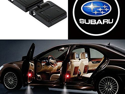 Bearfire 2 Pcs Wireless Car Door Led Welcome Laser Projector Logo Light Ghost Shadow Light Lamp Logos subaru