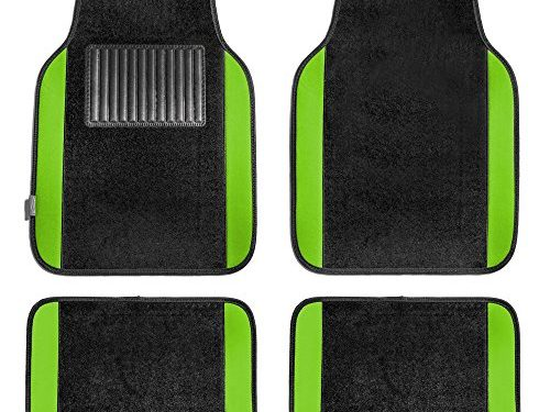 FH Group F14407GREEN Premium Full Set Carpet Floor Mat Sedan and SUV with Driver Heel Pad Green
