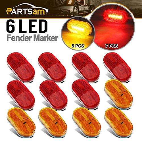 LED RV Camper Trailer Stop Turn Brake Tail Lights / License