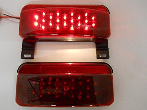 LED RV Camper Trailer Stop Turn Brake Tail Lights / License Light / Black Base