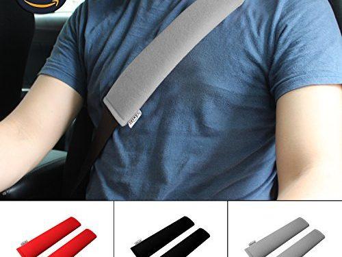 GAMPRO Car Seat Belt Pad Cover, 2-Pack Soft Car Safety Seat Belt Strap Shoulder Pad for Adults and Children, Suitable for Car Seat Belt, Backpack, Shoulder BagGRAY
