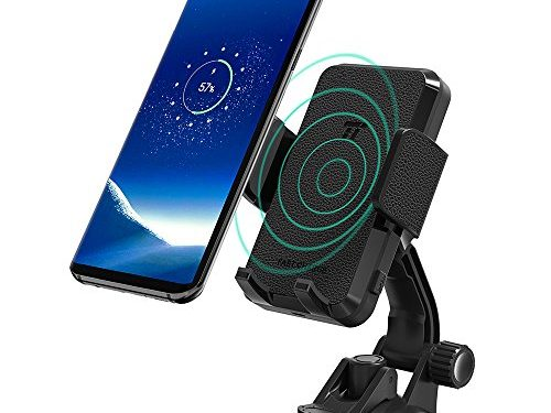 TaoTronics Phone Holder for Car, Qi Wireless Fast Charge Car Phone Mount for Samsung Galaxy S9 / S8 / S8+ / S7 / S7 edge / S6 edge+ / Note8 and Standard Charge for iPhone X / 8 Plus / 8 and More