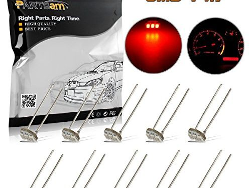 Partsam 10Pcs 4.7mm-12v Car Red Mini Bulbs Lamps Indicator Cluster Speedometer Backlight Lighting For GM GMC