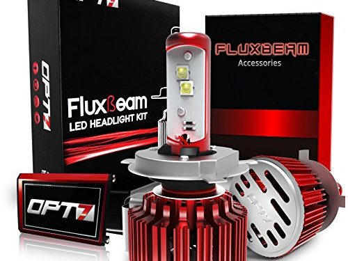 2 Yr Warranty – OPT7 Fluxbeam LED Headlight Kit w/Clear Arc-Beam Bulbs – 80w 7,000Lm 6K Cool White CREE – H4 9003