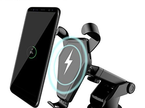 Wireless Car Charger, Qi Fast Charger Car Mount Air Vent Gravity Phone Holder for Samsung Galaxy S8/S8+/S7 Edge/S6 Edge+, Standard Charger for iPhone 8/8+/iPhone X and all Qi-Enabled Devices