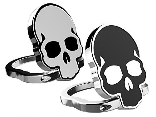 Cell Phone Finger Ring Holder, IHUIXINHE 360° Adjustable Ring Grip Kickstand for iphone X 8 7P 6 6s Plus, Samsung Galaxy, Huawei, Sony, LG, Fit for Magnetic Car Mount Skull 2PCS