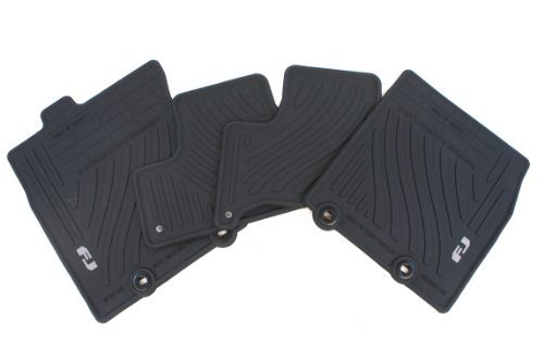 Genuine Toyota Accessories PT206-35110-21 Front and Rear All-Weather Floor Mat Black, Set of 4