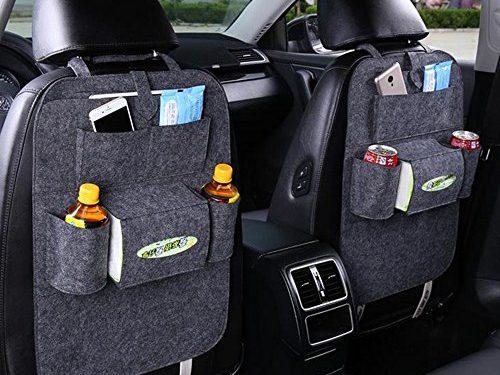 FULL WERK Car Seat Back Organizer Multi-Pocket Travel Storage Bag for Cars SUVs Trucks Vans Deep Gray