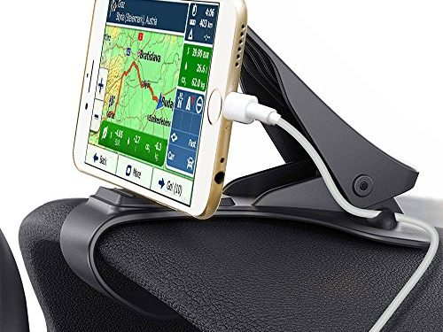 Glamore Car Phone Holder, HUD Design with Cable Clips, No Blocking for Sight, Durable Dashboard Car Phone Mount for iPhone X 8 Plus 7 6s SE Samsung Galaxy S5/S6/S7/S8 & other 3-7Inches Smartphone 1
