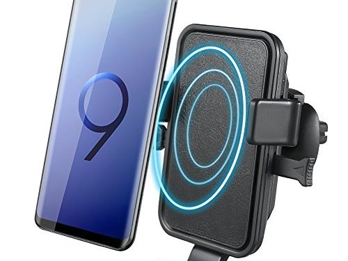 Wireless Car Charger, NOVETE Air Vent Phone Holder Gravity Car Mount Charger for iPhone X/8/8 Plus, Fast Charging for Samsung Galaxy S9/S9 Plus, S8/S8 Plus, S7, Note 8 Black
