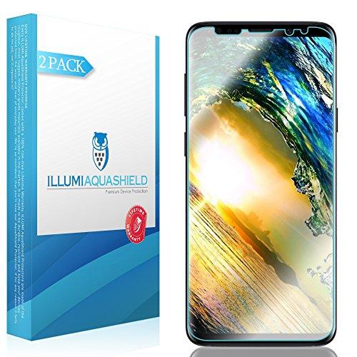 Galaxy S9 Screen Protector 2-Pack, ILLUMI AquaShield HD Clear Anti-Bubble Film