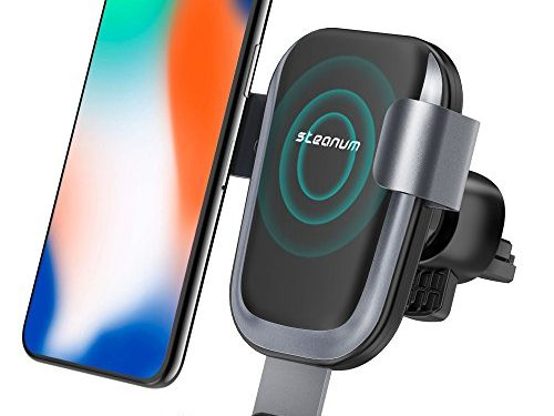 Wireless Car Charger, Steanum Car Fast Wireless Charger Air Vent Car Mount Phone Holder for Samsung Galaxy S9/S8 plus/S8/S8 plus/S7/S6 Edge/Note5, IPhone X/8/8 plus and Other QI-Enabled Devices