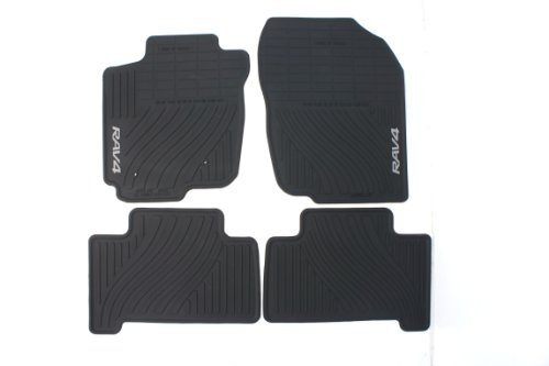 Genuine Toyota Accessories PT908-42110-20 Front and Rear All-Weather Floor Mat Black, Set of 4