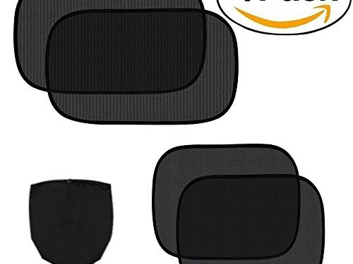 4 Pack Cling Car Side Windows Sunshade for Baby,Car Sunshades Protector,80 GSM for Maximum UV/Sun/Glare Protection for Kids,2 Pack 20″x12″ and 2 Pack 17″x14″ for Side Window Sunshades – Car Sun Shade