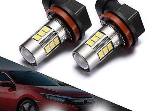 SEALIGHT H11/H8 LED Fog Lights Bulbs, Upgrade H16 LED Lamps DOT Approved, Cool Xenon White 6000K, 1 Yr Warranty Pack of 2