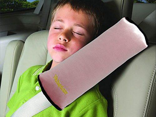 Valuetom Seatbelt Pillow, Car Seat Belt Covers for Kids, Adjust Vehicle Shoulder Pads, Safety Belt Protector Cushion, Soft Auto Seat Belt Strap Cover Headrest Neck Support for Children Baby Pink