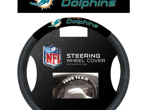 NFL Miami Dolphins Steering Wheel Cover