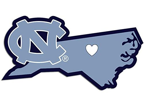 NCAA NORTH Carolina Tar Heels Home State Decal