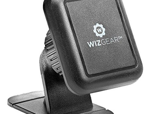 Magnetic Phone Mount, WizGear Universal Stick On Dashboard Magnetic Car Mount Holder, for Cell Phones with Fast Swift-snap Technology