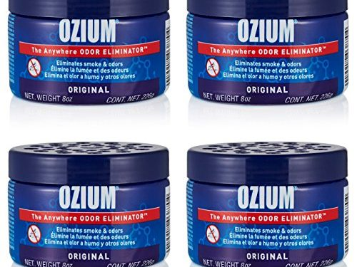 Ozium Smoke & Odor Eliminator 8oz 226g Gel for Home, Office and Car Air Freshener, Original Scent 4 Pack