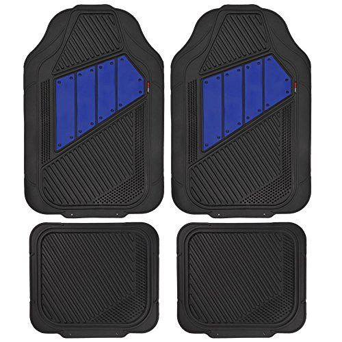 Oxgord 17pc Set Flat Cloth Mesh Blue Amp Black Broken Stripe