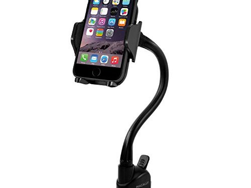 Macally Windshield Phone Mount, Adjustable Suction Cup Window Phone Mount Holder for iPhone X 8 8 Plus 7 7+ 6s 6 SE Samsung Galaxy S9 S9+ S8 S8+ S7 Edge S6 S5 Note 5 Nexus 6 Google Pixel LG MGRIP
