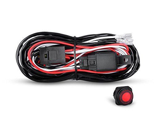 Nilight Off Road LED Light Bar Wiring Harness Kit 12V Relay On/Off Rocker Switch ATV Jeep Truck,2 years Warranty