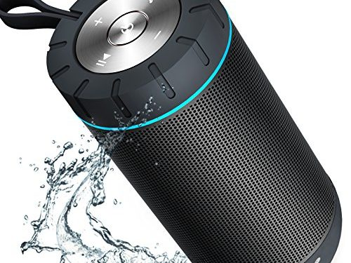 Grey – COMISO Waterproof Bluetooth Speaker with 24 Hours Playtime,360 Degree Superior Sound with Dual 6W Drivers Dual Passive Radiators wireless Portable Speaker for Outdoor