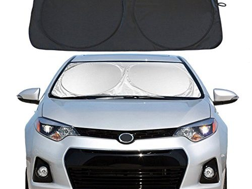 """YiDee Windshield Sun Shade Car Window Shade UV Reflector Keeps Vehicle Cool Folding Sun Visor Heat and Sun Reflector Standard 59"""" x 31.5"""""""