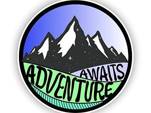 Adventure Awaits Sticker Vinyl Decal for Auto Cars Trucks Windshield Laptop RV Camper 4″