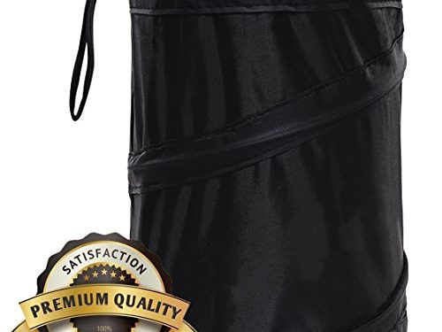Hilinker Car Trash Can simply pop open, toss trash, empty when full and wipe-clean 6.3 x 8.07 inch Black