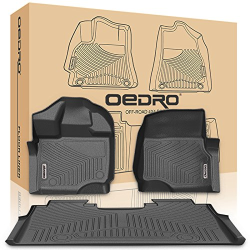 Oedro Floor Mats Liners Crew Cab For Unique Black Tpe All Weather Guard