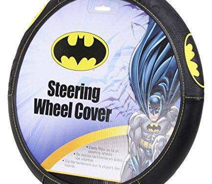 Plasticolor 006711R01 Black Steering Wheel Cover Warner Brothers Batman Shattered