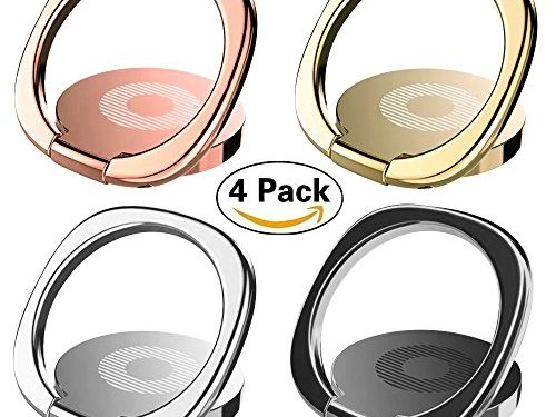 IHUIXINHE Phone Ring, 4PCS 360° Rotation Universal Cell Phone Finger Ring Grip Stand Ultra-thin Swivel Ring Buckle Phone Grip Kickstand for Universal Smartphone iPhone X 8 7 6 plus Galaxy S9 S8 Note8