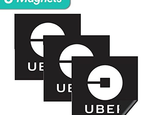 Sign for Uber, Lyft, and Rideshare Drivers 3Pack Uber Magnet – 5″x5″ inches – 3 Premium Magnets Bulk Pack – Durable Car Door/Bumper Magnet w/Highly Reflective Vinyl – Uber Sign Magnet