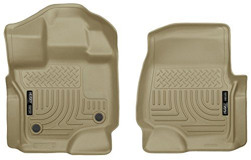 Husky Liners Front Floor Liners Fits 15-18 F150 SuperCrew/SuperCab – TAN